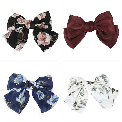 Women Girls Floral Bow Knot Hairpin Spring Clips Hair Clip Barrette Accessories