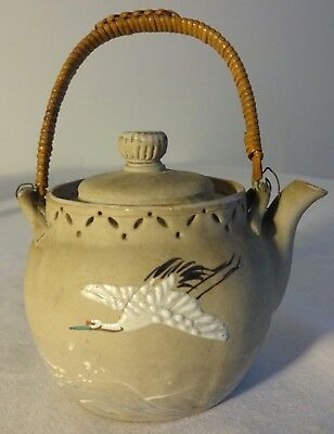 Openwork Japanese Banko Teapot Antique 1910s Vantines candy container