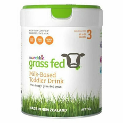New Munchkin Grass Fed Milk-Based Toddler Drink Stage 3 730g