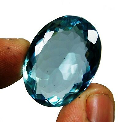 33.10 Cts. Natural Oval Cut Transparent Ocean Blue Aquamarine Loose Gems. 1867
