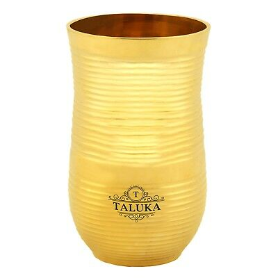 Brass Glass Cup Tumbler Water Drinking Serving Purpose Home Hotel Drinkware Gift