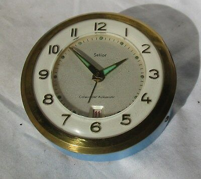 Great Vintage Desk Alarm Clock from SELIOR with Automatic Date