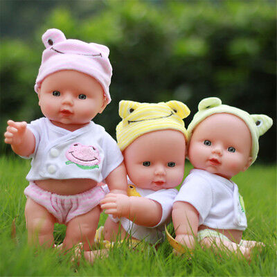 12'' New Borned Reborn Soft Bodied Baby Doll Toy Dummy Sounds Crying Talking