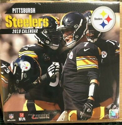 Pittsburgh Steelers 2019 Wall Calendar 12x12 By Turner Licensing (NEW)