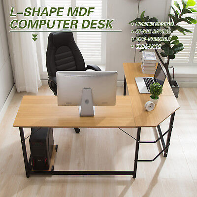 L-Shaped Office Computer Desk Workstation Student Study Table Home Corner Desk