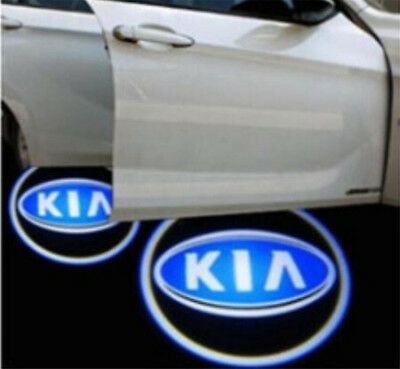 2pcs Wireless Car LED Door Projector Logo Ghost Shadow Light Fit For KIA