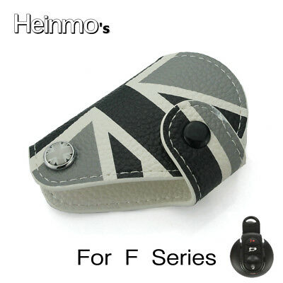Leather Union Jack Fob Key Case Bag Cover Holder For Mini Cooper Countryman New
