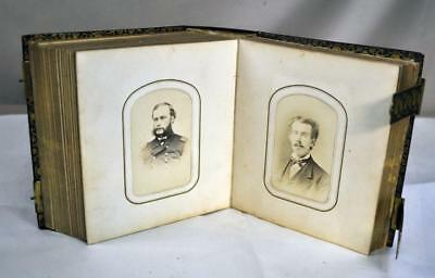 Civil War Era Tintype - Cdv Photo Brass Clasp Photo Album