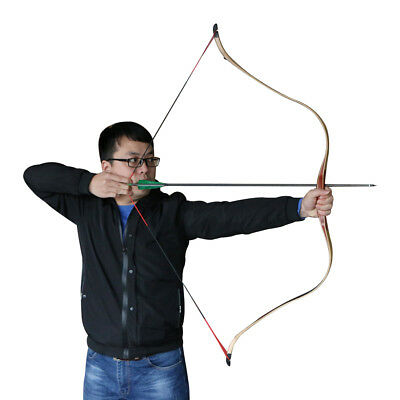 25-45lbs Traditional Handmade Archery Recurve Bow Laminated Hunting Practice Bow
