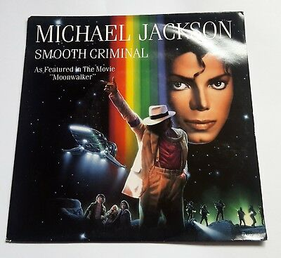 "Michael Jackson - Smooth Criminal 7"" Single NM - + Juke box title strip RARE"