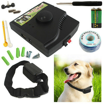 Dog Hidden Electronic Fence Fencing System In-ground Electric Collar Receiver AU