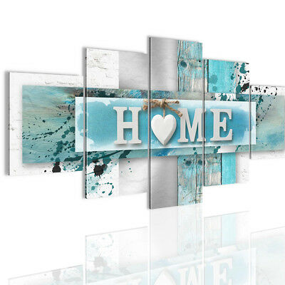 5 Panels Love HOME Wall Art Print Pictures Canvas Paintings Decorations Unframed