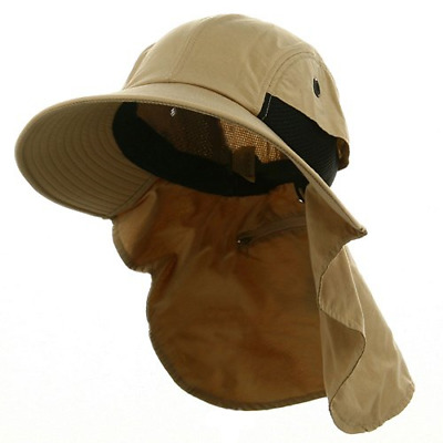 Whispering/Adams UV 45+ Extreme Condition Flap Hat-Khaki OSFM