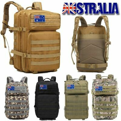 45L Camping Hiking Bag Army Military Tactical Backpack Rucksack Sport Travel