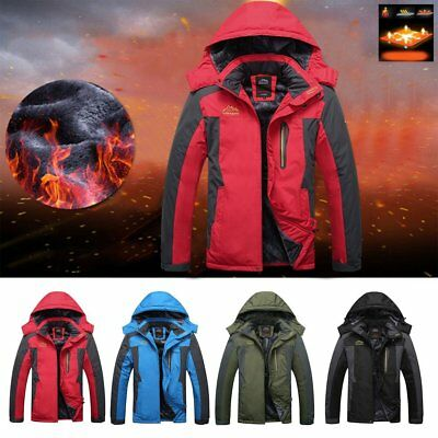 Men Women Winter Skiing Hooded Jacket Outdoor Mountaineering Windbreaker Coat J1