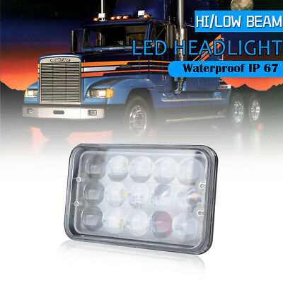 "DOT 40W 4x6"" LED Headlight for Kenworth T400 T600 T800 W900L/B Classic 120/132"