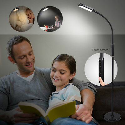 LED Floor Lamp Dimmable Light Standing Touch Adjustable Home Office Reading Work