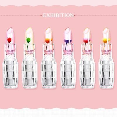 Portable Flowers Crystal Jelly Lipstick Temperature Change Color Lipstick US