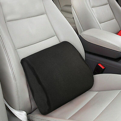 Memory Foam Car Seat Chair Lumbar Support Cushion Back Pain Height Booster