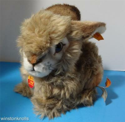 Steiff 1985 2975/25 Dormy Lying Rabbit Button Tags  Woven Fur 25Cm 9 Inches