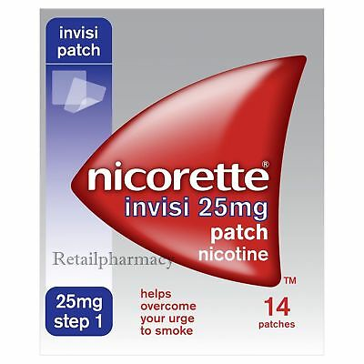 Nicorette Invisi 25mg 14 Patch Multibuy 1 2 3 6 12 Packs