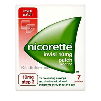 Nicorette invisi 10mg patch 7 PACK 1 2 3 6 12