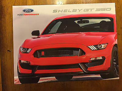 2016 Ford Shelby Mustang GT-350 6-sided folding sales brochure