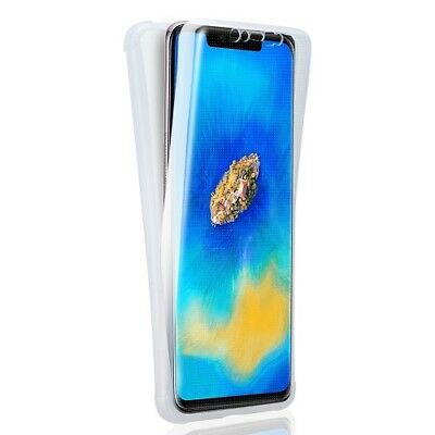 360° Silicone Protective Front & Back Clear Case Cover For Huawei Mate 20 Pro