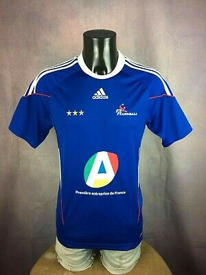 FRANCE Team Maillot Jersey Trikot 2010 Adidas FFH Handball Champion Europe Cup