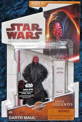 "DARTH MAUL ( 4"") STAR WARS 2009 SAGA LEGENDS ACTION FIGURE w/DUAL RED LIGHTSABER"
