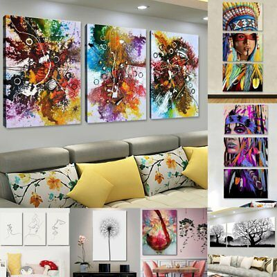 Abstract Modern Painting Canvas Wall Mural Art Print Picture Home Hanging Decor