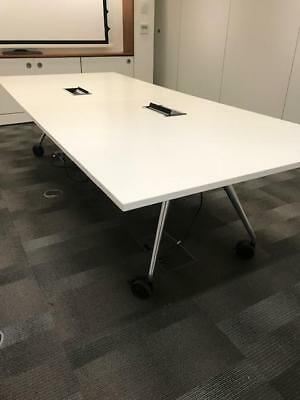 Folding Boardroom Table, Cable Management, Free UK Mainland Delivery