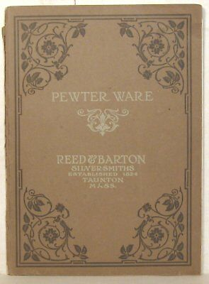 Early 1900s Reed & Barton pewter ware catalog (No. 47D)