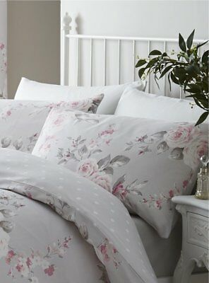1e736a8069b HOUSE ADDITIONS CANTERBURY Floral pink grey double duvet set 4 6ft ...