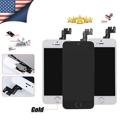 For IPhone 5s 5c 5 LCD Display Touch Screen Digitizer Button Camera Replacement