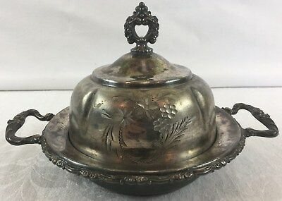 Vintage Sheffield Plate Co Silver Plated Butter Bowl Dish #2233