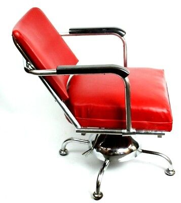 Vintage Retro Chrome Barbers Chair - FREE Shipping [PL4743]