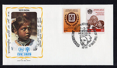 India - 1979,  International Year of the Child FDC