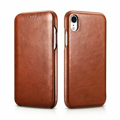 NOVADA Genuine Leather Flip Case Cover for iPhone XR Vintage Collection