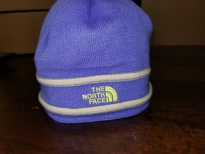 a32fe0125 THE NORTH FACE Knit Beanie Hat Stocking Cap Blue Kids Youth Girls ...