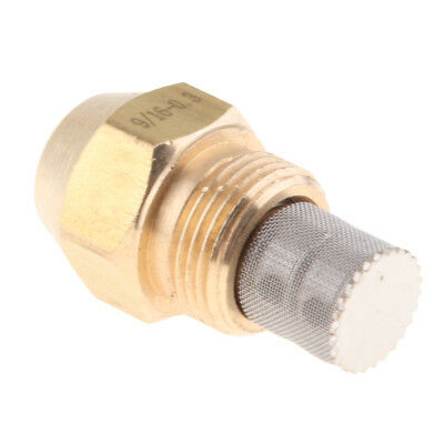 Brass Oil Burner Spray Nozzle Fits Furnaces, 9/16 Inch Thread Connect, 0.3mm
