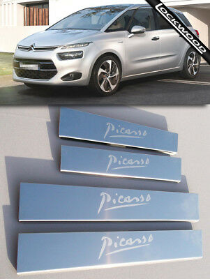 Citroen C4 Picasso Mk2 (released 2013) Stainless Sill Protectors / Kick Plates
