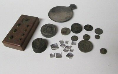 Lot Of Antique Scale Weights