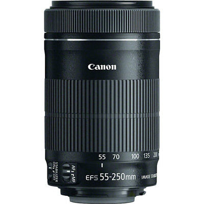 NEW Canon EF-S 55-250mm F4-5.6 IS STM Lens for Canon Cameras USA Warranty