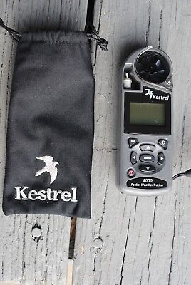Kestrel 4000 Pocket Weather Tracker With Pouch Look!!!