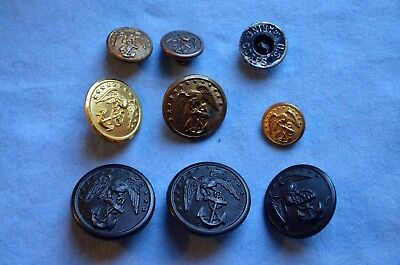 Lot of WWI-WWII Era USMC Buttons