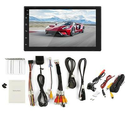 7'' 2 DIN Android 8.1 Car BT MP5 Player GPS Navigation Touch Screen +HD Camera