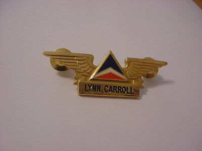 Obsolete Gold-tone Delta Airlines Flight Attendant Wing.  Very Good Condition.