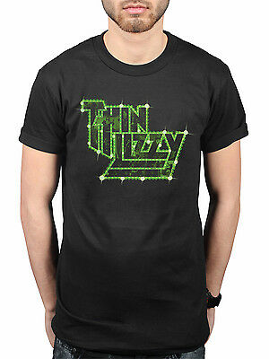 Official Thin Lizzy Lights Logo NEW T-Shirt Rock Metal Band Merch Skid Row Dare