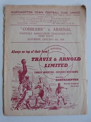 1957/58 Northampton Town V Arsenal - Fa Cup 3Rd Round